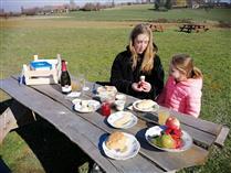 Bourgondische picknickkrat